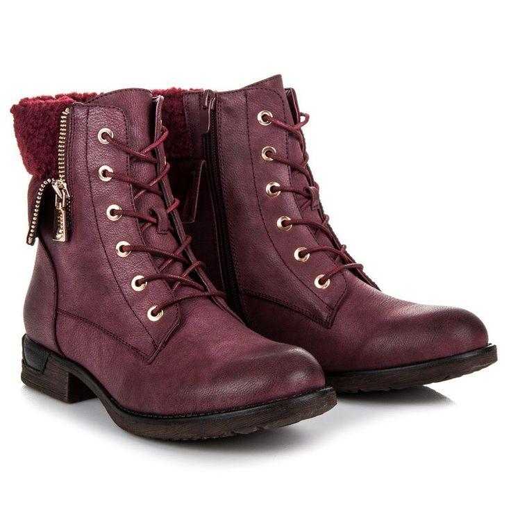 Členkové topánky na šnurovanie BZ8402WI