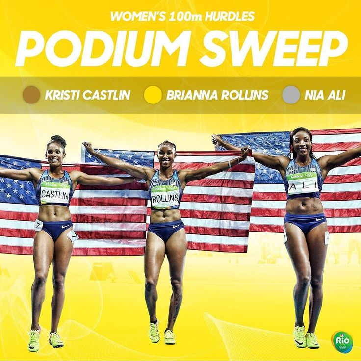 08.27.16 SWEEP! For the first time in history, American women go 1-2-3 in an Olympic track and field event. #Rio2016