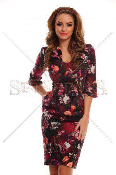 Brilliant Romance Burgundy Dress