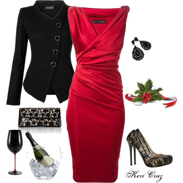 """Office Party"" by keri-cruz on Polyvore"