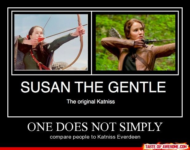one does not simply: Played Katniss, Awesome Katniss, Catching Fire, Narnia Awesome, Better, Compare Katniss, Original Katniss, Hunger Games, Compare People