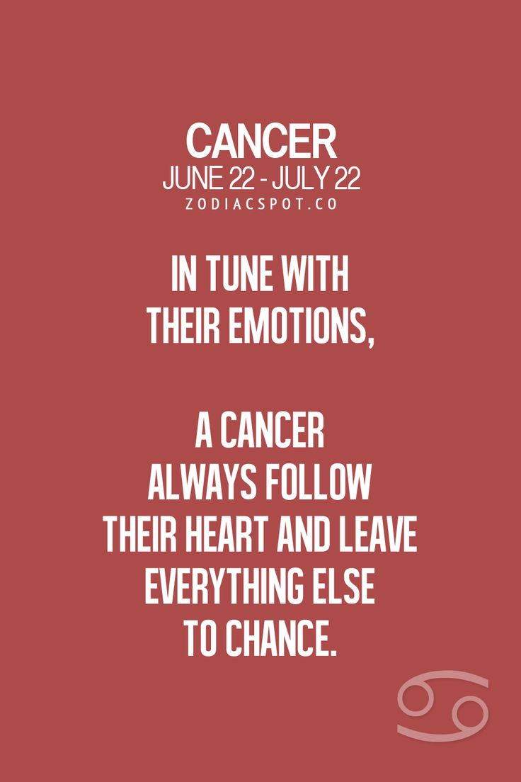 Cancer Zodiac Sign in tune with their emotions...