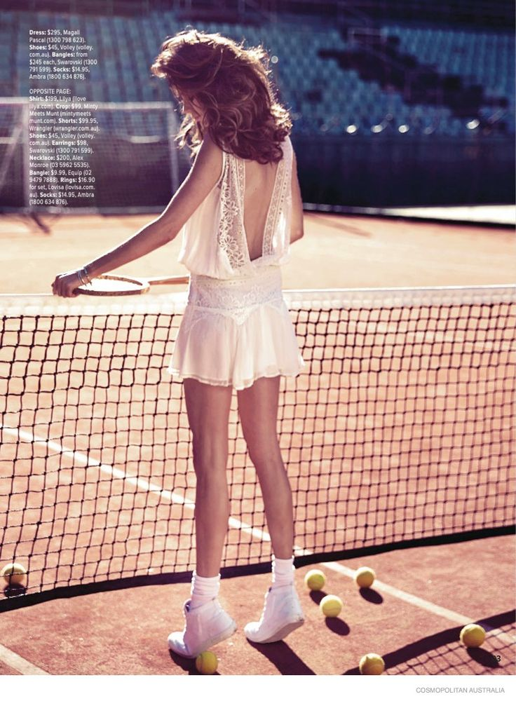 Nicole Trunfio Models Sporty Looks for Cosmopolitan Australia #ranitasobanska #fashioneditorials #sportfashion