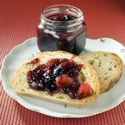 Rhubarb blueberry jam