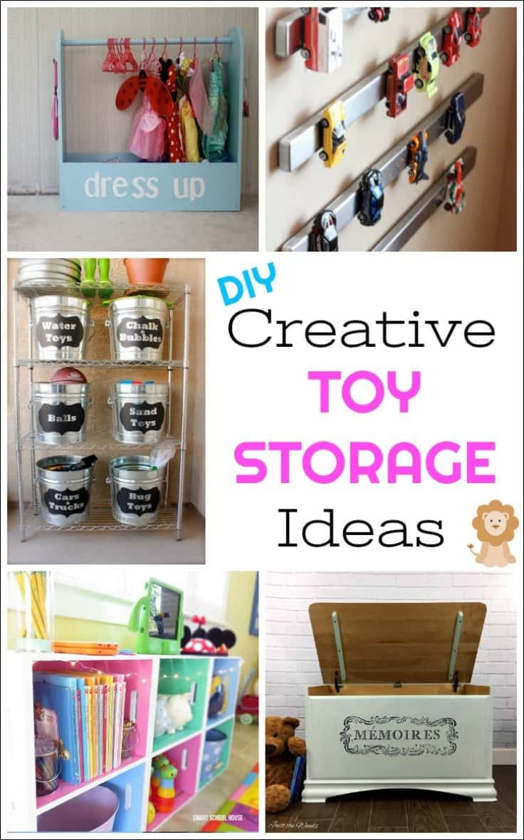 Creative Diy Toy Storage Ideas To Organize The Kids Mess Toy