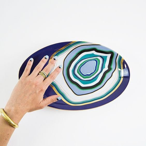 Table jewellery. La Vida serving plate.   #homedecor #luxury #tabledecor #tablejewelry #madeinfrance #evileye #designinspired