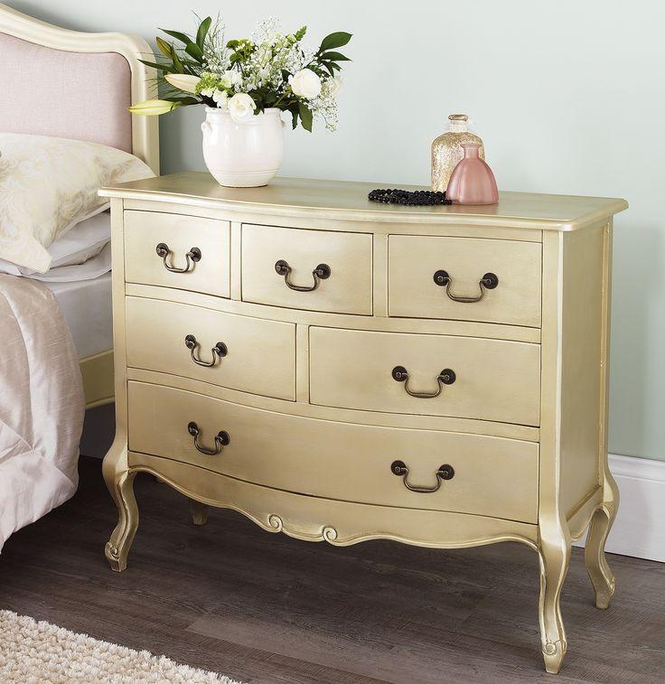 juliette drawer chest gold bedroom furniture direct home sets ...