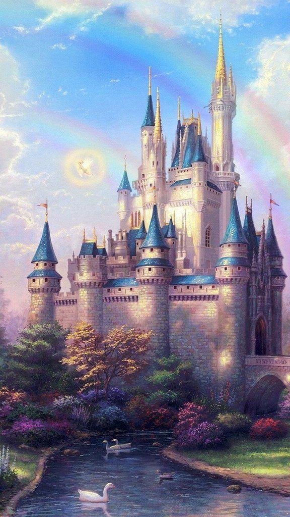 Fantasy Castle Wallpaper Disney Wallpaper Castle Illustration Disney Phone Wallpaper