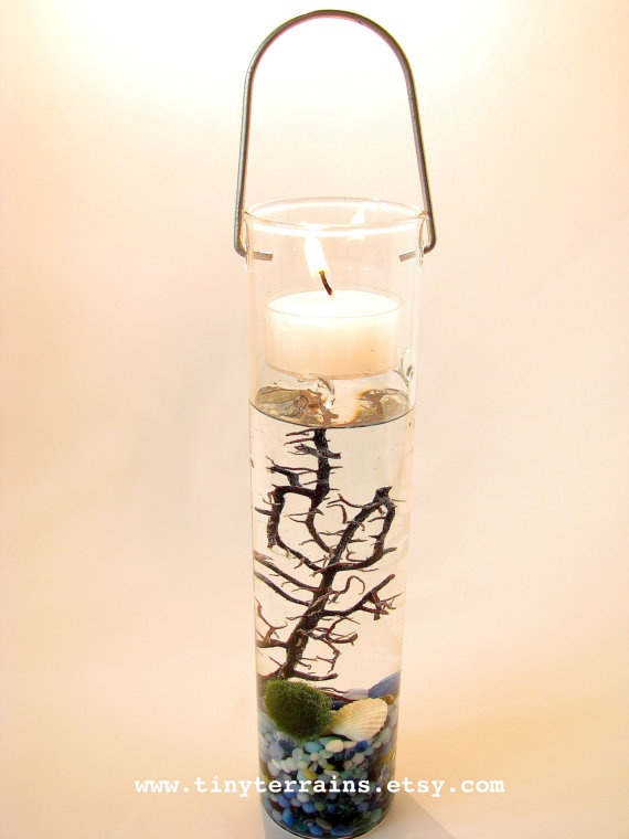 FREE 2nd MARIMO BALL included Hanging Candle by TinyTerrains, $29.00
