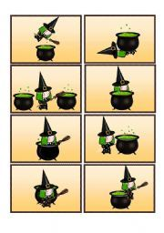 English teaching worksheets: Flashcards where is the witch-peprosition