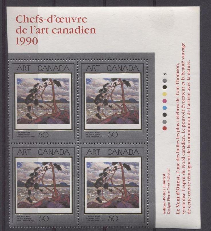 Canada #1271 50c 1990 Art Canada The West Wind UR Insc. Block NF/DF VF-84 NH | eBay