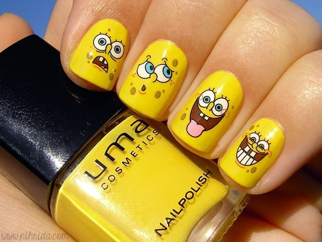 Best Water Decals Images On Pinterest Make Up Nail Decals - Spongebob nail decals