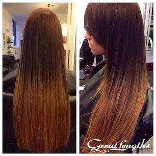 26 best great lengths hair extensions at vision images on beautiful glossy brunette great lengths ombre hair long straight hair extensions pmusecretfo Images