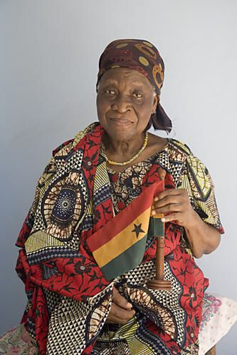 The creator of the Ghanaian National Flag, Mrs Theodosia Okoh