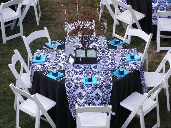 42 best Turquoise, Black, and White Wedding images on Pinterest ...