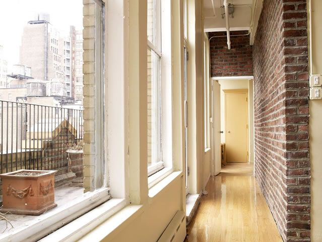 Exposed Brick Hallway   New York City NYC Apartment Loft Part 57