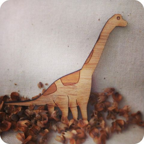 Brachiosaurus Brooch | One Happy Leaf | Nell and Oll