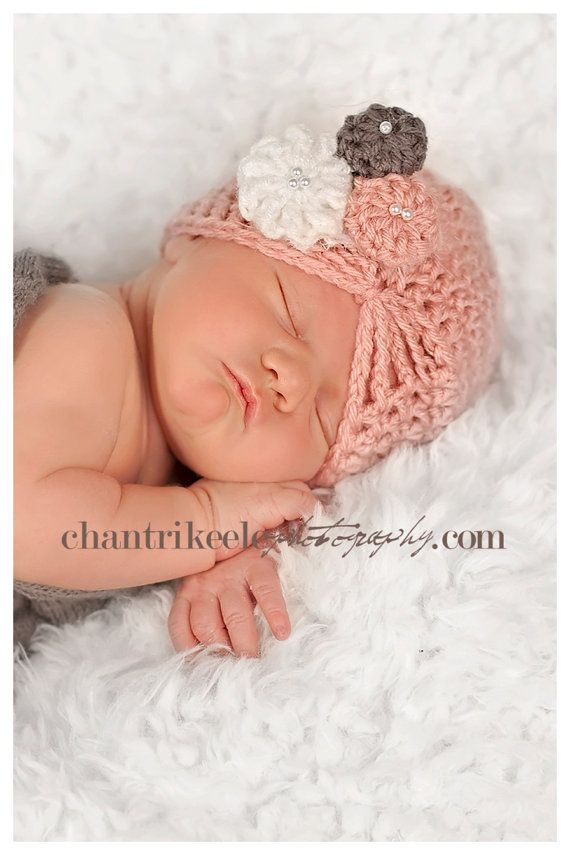 NEW ITEM Baby girl pink grey and white vintage by candiedots, $22.00