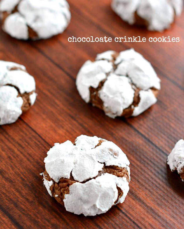 Chocolate Crinkles Cookies Recipe