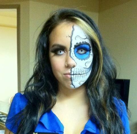Halloween make up by Teresa Heath, sugar skull  https://www.facebook.com/pnclartst