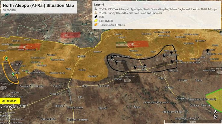 North #Aleppo Situation Map  20-09-2016 #Syria #Rebels & #Turkey vs #ISIS