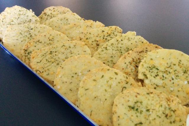 Sablés salés au fromage et aux herbes - Mes Recettes au Cooking Chef