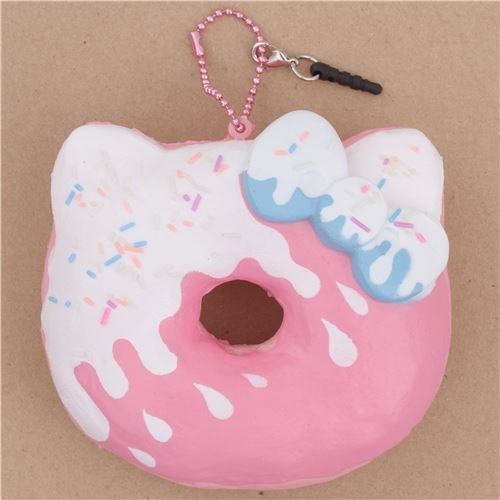 cute Hello Kitty pink donut with icing sprinkle bow scented squishy 1