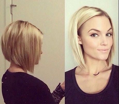 Halflange kapsels voor fijn haar
