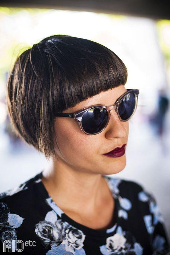 Frangia corta su capello corto  #hair #newlook #summer #black   www.gateoneparrucchieri.it
