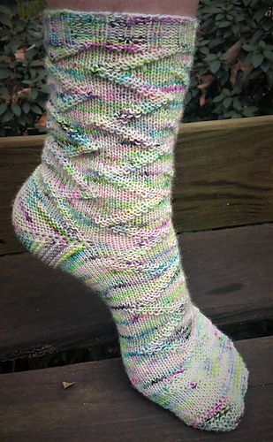 Like, Totally sock! Free pattern on Ravelry by Cottage Industry Designs