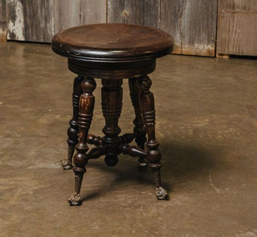 Antique Victorian-era claw-foot piano stool with turned wooden legs. Embossed metal & The 25+ best Piano stool ideas on Pinterest | Upright piano Piano ... islam-shia.org