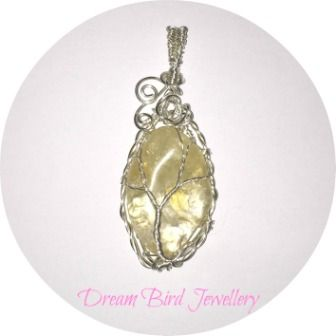 Designed and hand crafted by Dream Bird Jewellery this sterling silver pendant features an amazing piece of yellow calcite. I was immediately drawn to this crystal when I bought it and wanted to do...