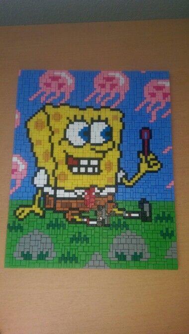 Spongebob met kwallen