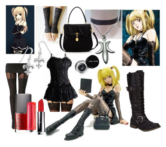 """""""Misa Amane Inspired Outfit"""" by fizzytizzy ❤ liked on Polyvore featuring Volatile, Reger by Janet Reger, Misa, Henri Bendel, Boohoo, NARS Cosmetics and Bobbi Brown Cosmetics"""