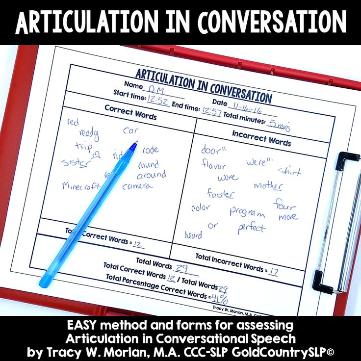 QUICK, EASY method for measuring articulation progress at the conversational level!