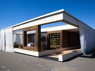Check out this solar powered house by Team Austria. It won the Department of Energy's Solar Decathlon competition in 2013.