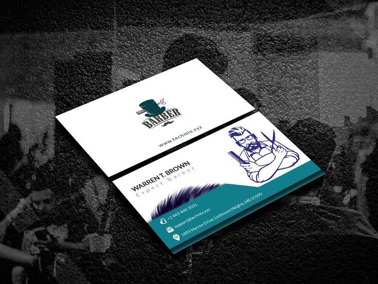 Barber Shop Business Card Template in 2020 Barber shop