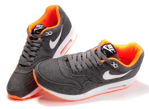 Cheap Nike Air Max 1 Air Max 87 Women Shoes Cowboy Grey Orange Red 512033-016
