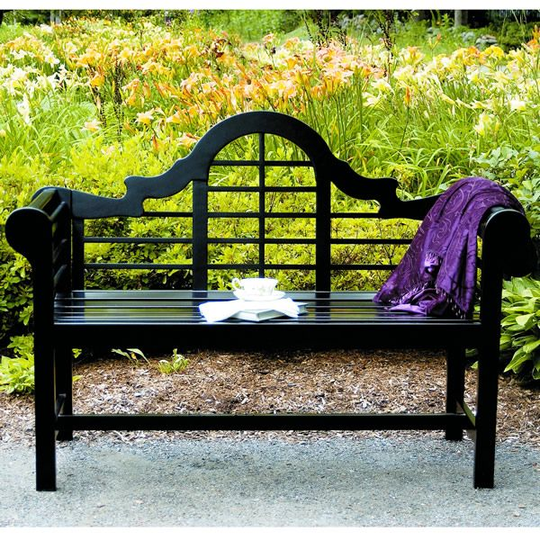 4 Lutyen Bench Black Lacquer This Is As Comfortable It Beautiful With Its High Back And Rounded Ar For The Outdoors My