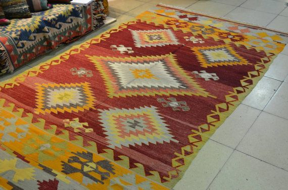 Turkish kilim rug. Old kilim. Natural dyed and by turkishrugman