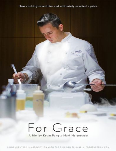 Ver For Grace (2015) online Pelicula Completa en Español #Películas  Documental sobre el cocinero Curtis Duffy, uno de los chefs con más renombre de Estados Unidos, y su sueño de edificar el restaurante de sus sueños, Grace, en su peor momento personal. A pesar de poseer dos estrellas Michelin, Duffy tiene la anhelo de convertir Grace en el mejor restaurante del país. Pero estar tan centrado en su carrera gastronómica le costó a este cocinero su boda y sus dos hijas pequeñas. 'For Gr..