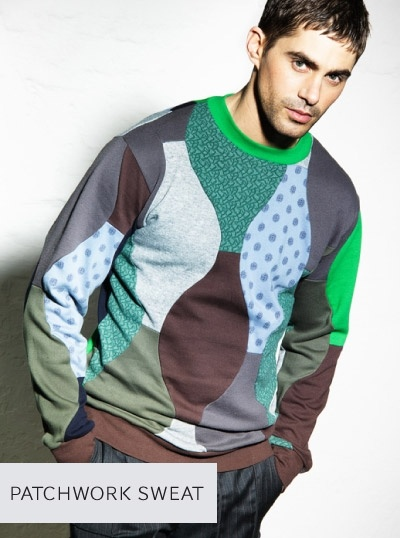 Junky Styling -- patchwork sweat