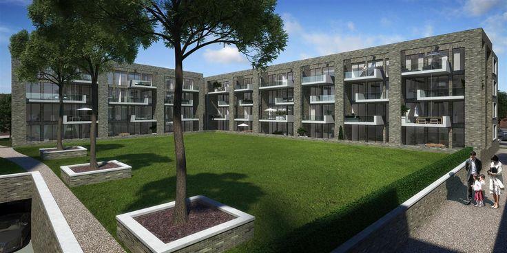 Heilig Hart Hof - Breda, prijs €339.500,- tot €685.000,-, woonoppervlakte 104 m² tot 180 m². Het luxe appartementencomplex aan het Heilig Hart Hof bestaat uit vier woonlagen en een parkeerkelder met 126 parkeerplaatsen. Door de ingetogen architectuur van warm lichtgrijze baksteen vormt het een harmonisch geheel met de kerk en de hoftuin. Bezoek ook de projectwebsite http://www.vanagtmaal.nl/nl/projecten/detail/heilig-hart-hof