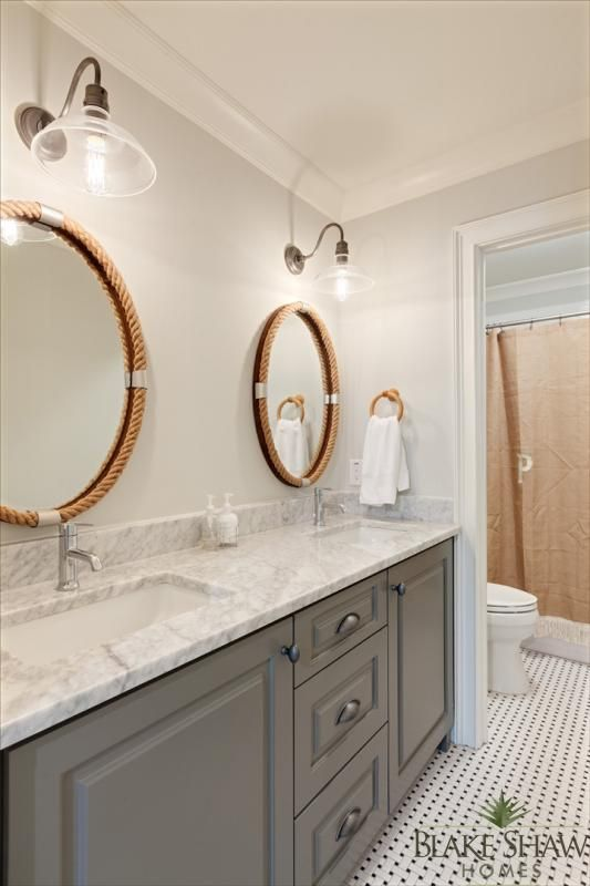 1280 best images about spaces on pinterest window - Farmhouse bathroom vanity mirror ...
