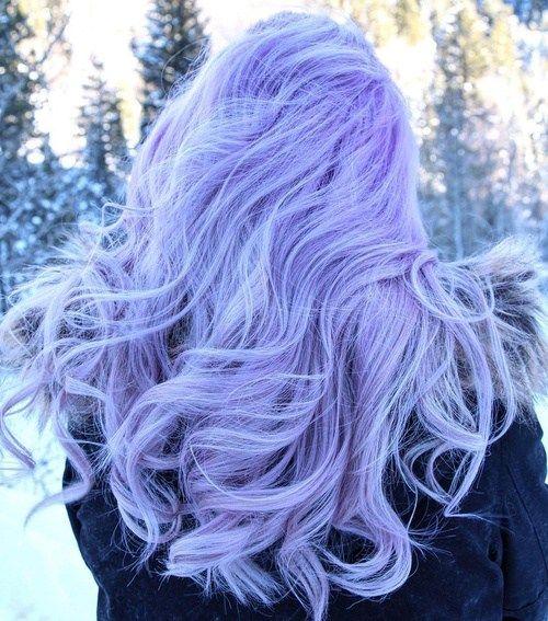 light pastel purple hair