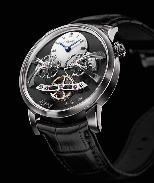 Cellini Jewelers carries the MB&F MensWatch. 18 karat white gold.  Function: Planetary differential transmits the average rate of the two regulators to the single gear train.  Visit our store or shop online at www.cellinijewelers.com today. #goldrate #goldratetoday