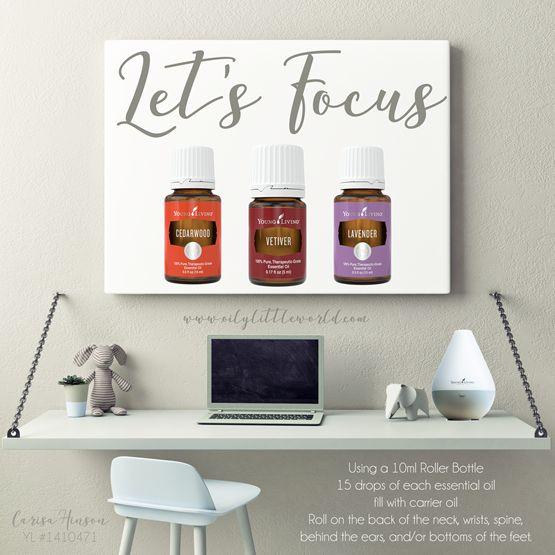Focus Blend ~ Young Living Essential Oils ~ Vetiver, Lavender, Cedarwood