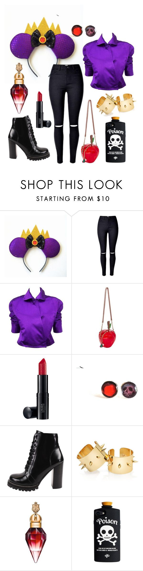 """""""Evil Queen Disneybound"""" by toneverneverlandears on Polyvore featuring Ralph Lauren, Betsey Johnson and Jeffrey Campbell"""