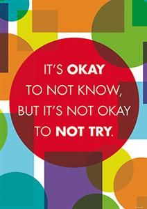 It's Okay - Motivational Poster by Renewing Minds - Great for public or private #schools or #homeschools! Each #poster in the Renewing Minds collection is designed to motivate, encourage, and inspire. Spotlight your favorite solo selection or group several items together for maximum effect.