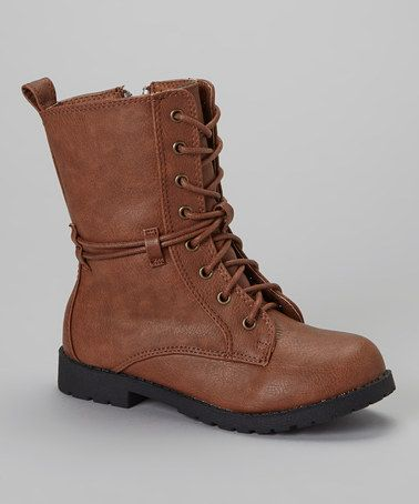 Take a look at this Beige Lace-Up Boot by Lucita on #zulily today! Girls $18.99